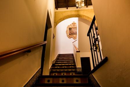 Vista de la escalera.