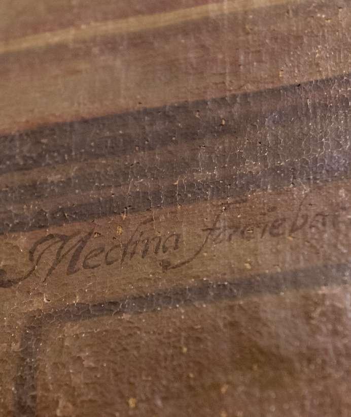 Detalle de la firma de Juan de Medina