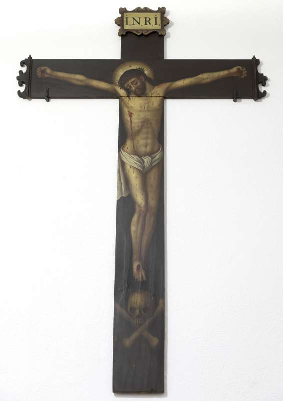 Cristo Crucificado y calavera