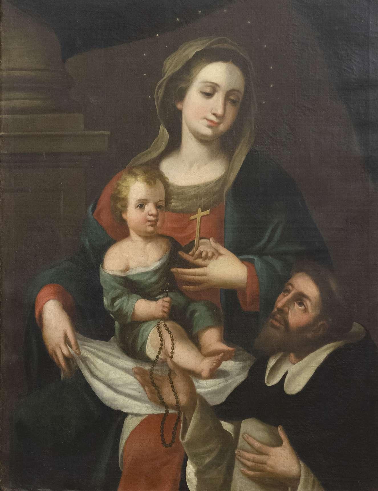 Virgen con el Niño y Santo Domingo