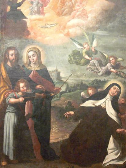 Transverberación de Sta. Teresa de Jesús y Sgda. Familia