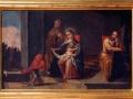 San Juanito jugando a asustar al Niño Jesús